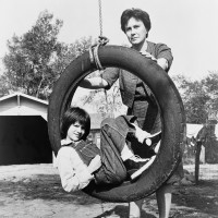Harper Lee with Mary Badham, who played Scout in the 1962 film of To Kill a Mockingbird