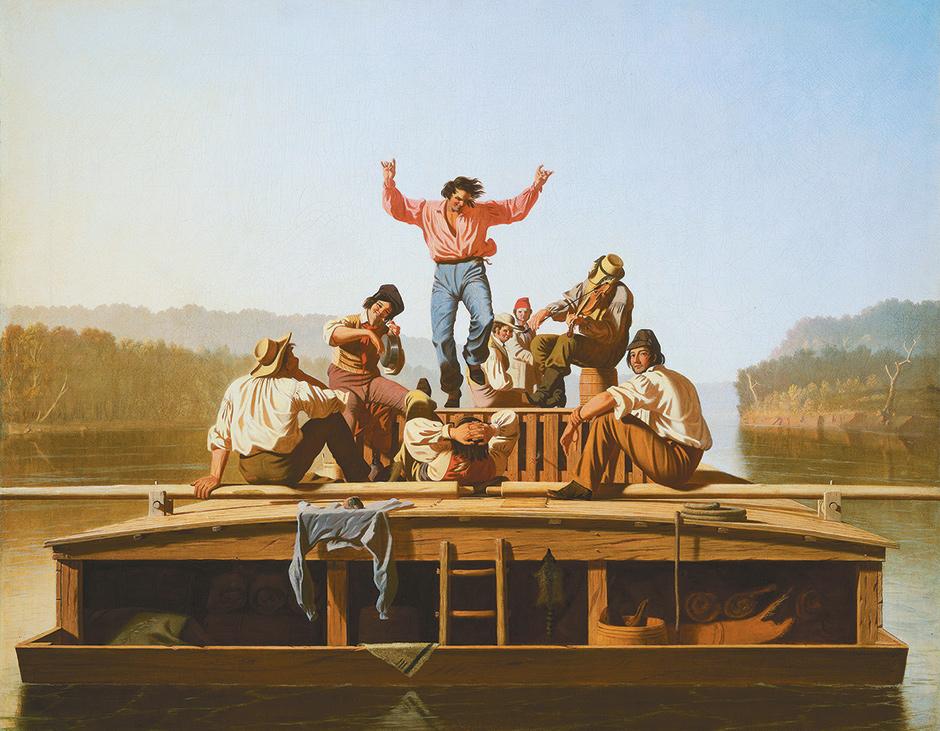 George Caleb Bingham: The Jolly Flatboatmen, 1846