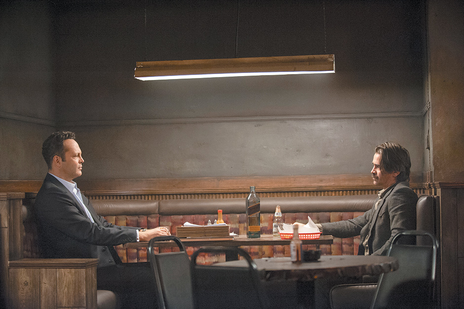 Vince Vaughn and Colin Farrell in the second season of True Detective