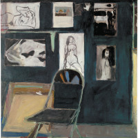 Richard Diebenkorn: Studio Wall, 1963