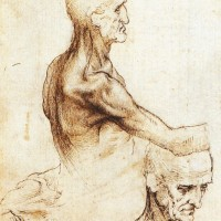 Detail of a drawing by Leonardo da Vinci, circa 1510–1511