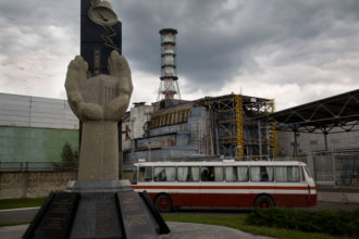 The Chernobyl nuclear power station, May 2008