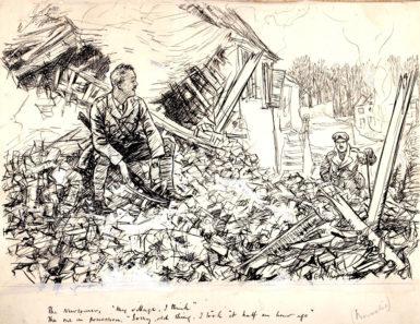 E.H. Shepard, 1917; the caption reads,