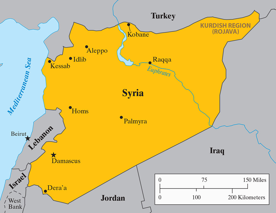 City Map Of Syria City Map Of Myanmar City Map Of Western Europe - Map of syria