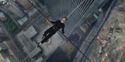 Joseph Gordon-Levitt as Philippe Petit in Robert Zemeckis's <em>The Walk</em>, 2015