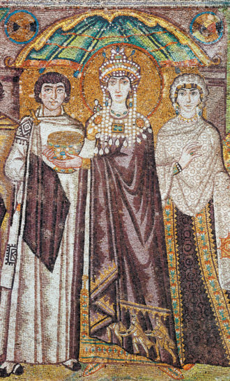Empress Theodora; mosaic from the Basilica of San Vitale, Ravenna, Italy, sixth century