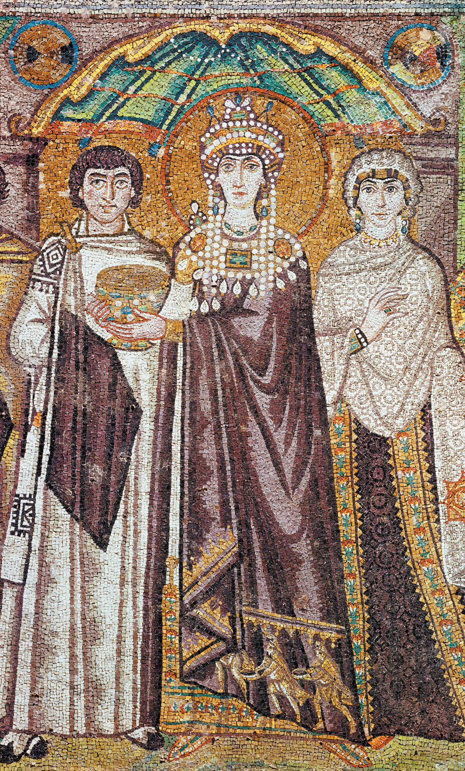 Empress Theodora; mosaic from the Basilica of San Vitale, Ravenna, Italy, sixth century