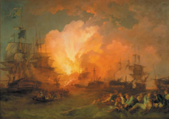Philip James de Loutherbourg: The Battle of the Nile, 1800