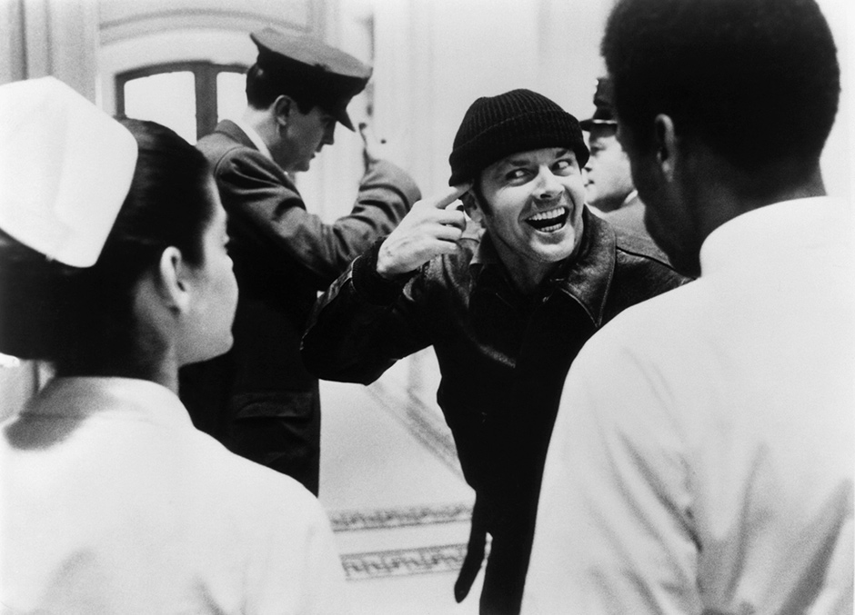 Jack Nicholson in One Flew over the Cuckoo's Nest, 1975