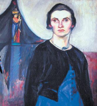 Regina Ullmann; painting by Lou Albert-Lasard, 1915