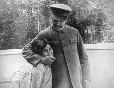 Joseph Stalin and his daughter Svetlana, Moscow, 1933