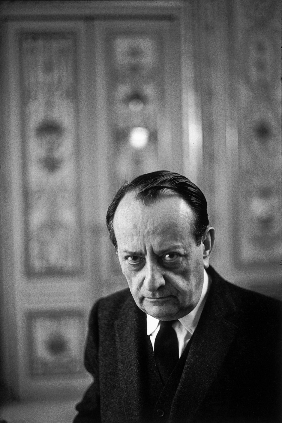 André Malraux, France's first minister of culture, Paris, 1968; photograph by Henri Cartier-Bresson