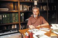 Primo Levi in his studio, Turin, 1981