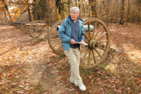 James M. McPherson giving a tour of Shiloh National Military Park, Tennessee, 2008