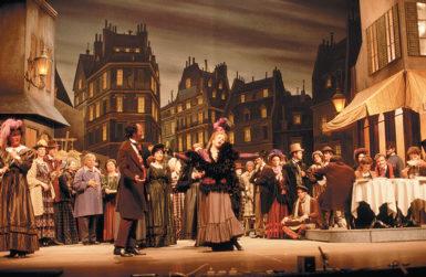 A production in Beijing of Puccini's opera La Bohème, based on the novel Scènes de la vie de bohème by Henri Murger, 1986