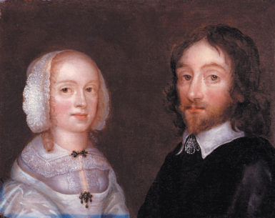 Lady Dorothy Browne and Sir Thomas Browne; portrait by Joan Carlisle, circa 1641–1650