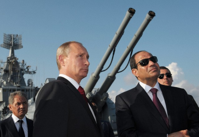 Russian President Vladimir Putin and Egyptian President Abdel Fattah al-Sisi, Sochi, Russia, August 12, 2014