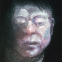 Francis Bacon, Self-Portrait, 1987; oil on canvas, 14 x 12 inches