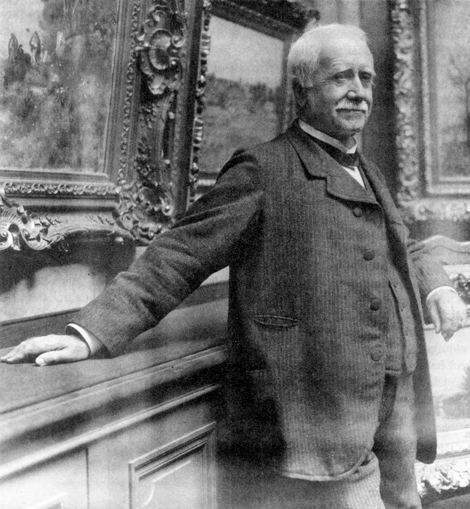 Paul Durand-Ruel in his gallery, Paris, circa 1910