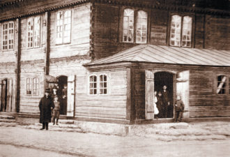 The synagogue in Jedwabne, Poland, before World War II