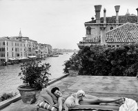 Peggy Guggenheim on the roof of her palazzo in Venice, October 1953