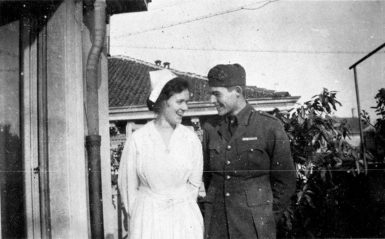 Ernest Hemingway and Agnes von Kurowsky, the American nurse who was the inspiration for the character of Catherine Barkley in A Farewell to Arms, Milan, 1918