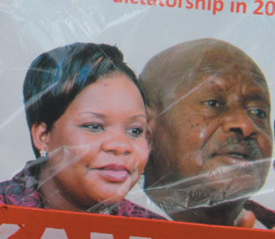 Ugandan MP Cerinah Nebanda and President Yoweri Museveni, from the cover of a Ugandan news magazine published shortly after Nebanda's death in December 2012. The headline read 'Nebanda's Death, Museveni's Reaction: Will Uganda Become an Open Dictatorship in 2013?'