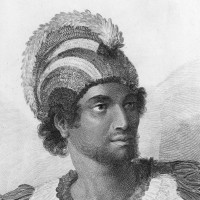 The Hawaiian high chief Ka'iana, who the nineteenth-century historian Abraham Fornander believed may have killed Captain James Cook; engraving after a drawing by John Webber, 1790