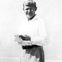 Dietrich Bonhoeffer at an ecumenical conference, Gland, Switzerland, August 1932