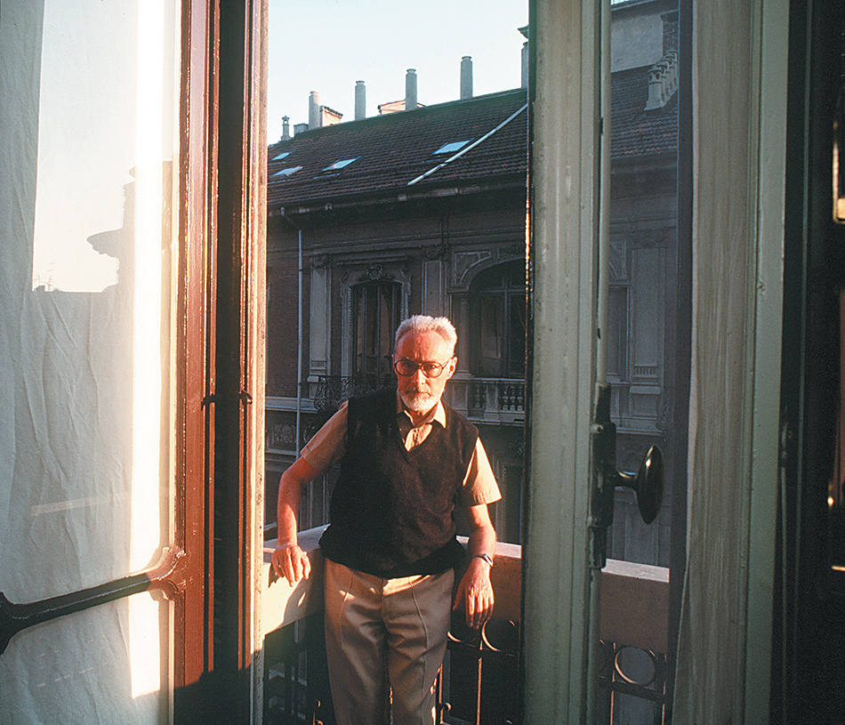 Primo Levi, Turin, 1985; photograph by René Burri