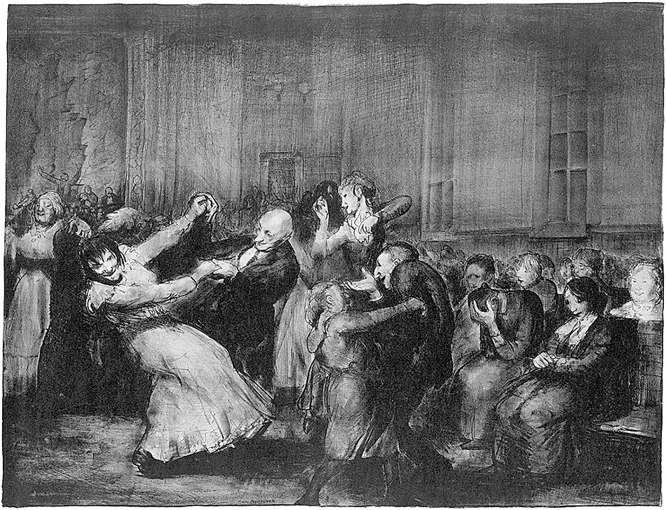'Dance in a Madhouse'; lithograph by George Bellows, 1917