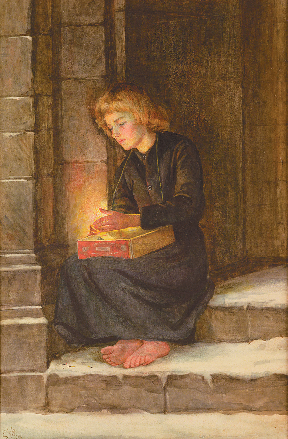 Edith Heckstall Smith: The Match Girl, circa 1884–1890