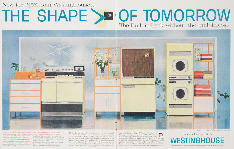 Advertisement for a Muller-Munk kitchen ensemble, Saturday Evening Post, September 28, 1957