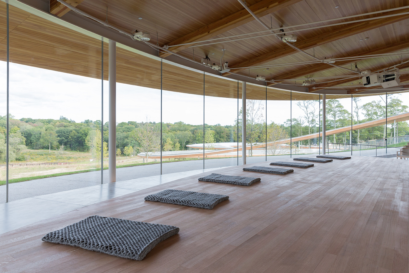 The River building, Sanctuary, with Olafur Eliasson's Mats for multidimensional prayers, 2014