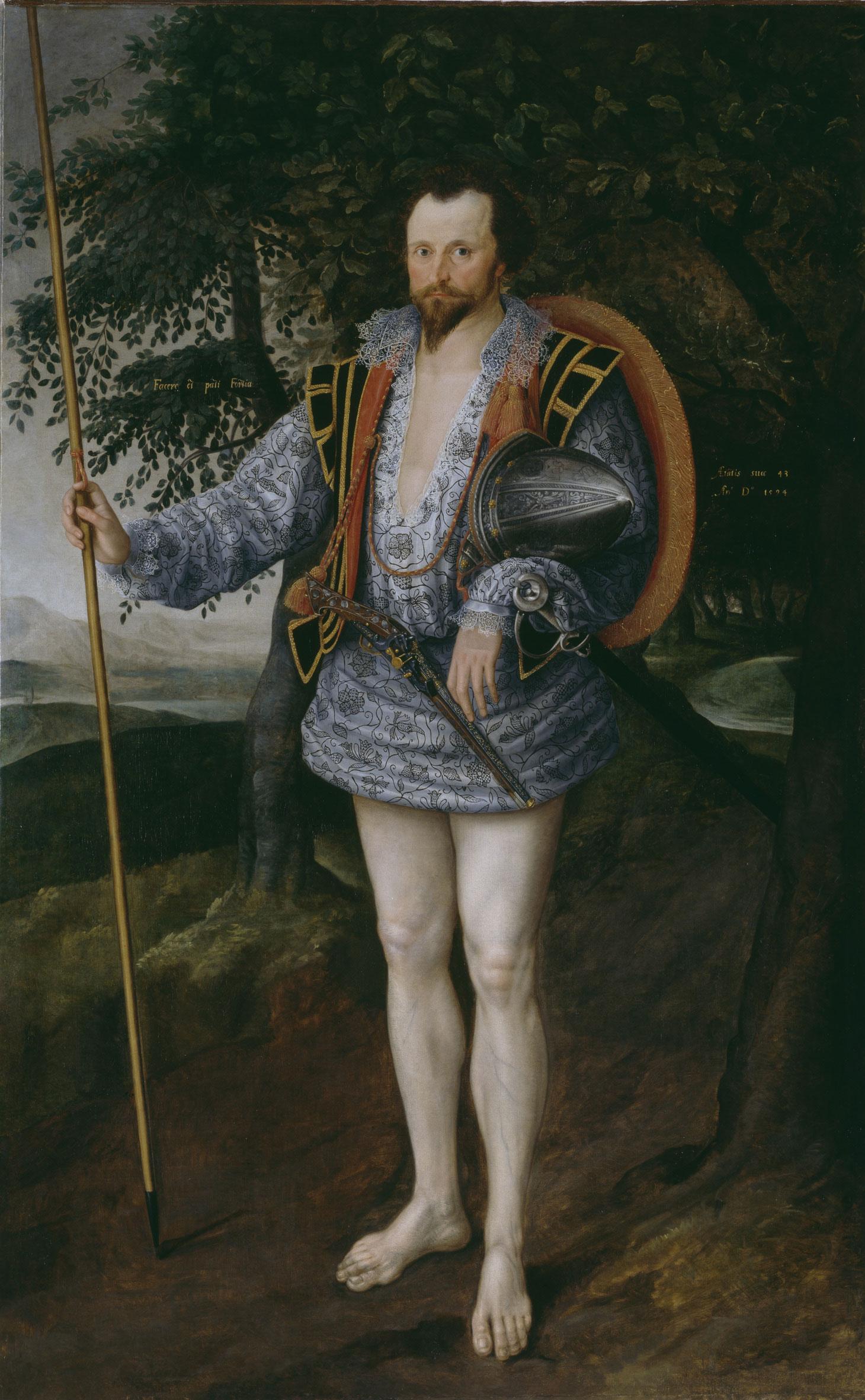 Marcus Gheeraerts II: Portrait of Captain Thomas Lee, 1594