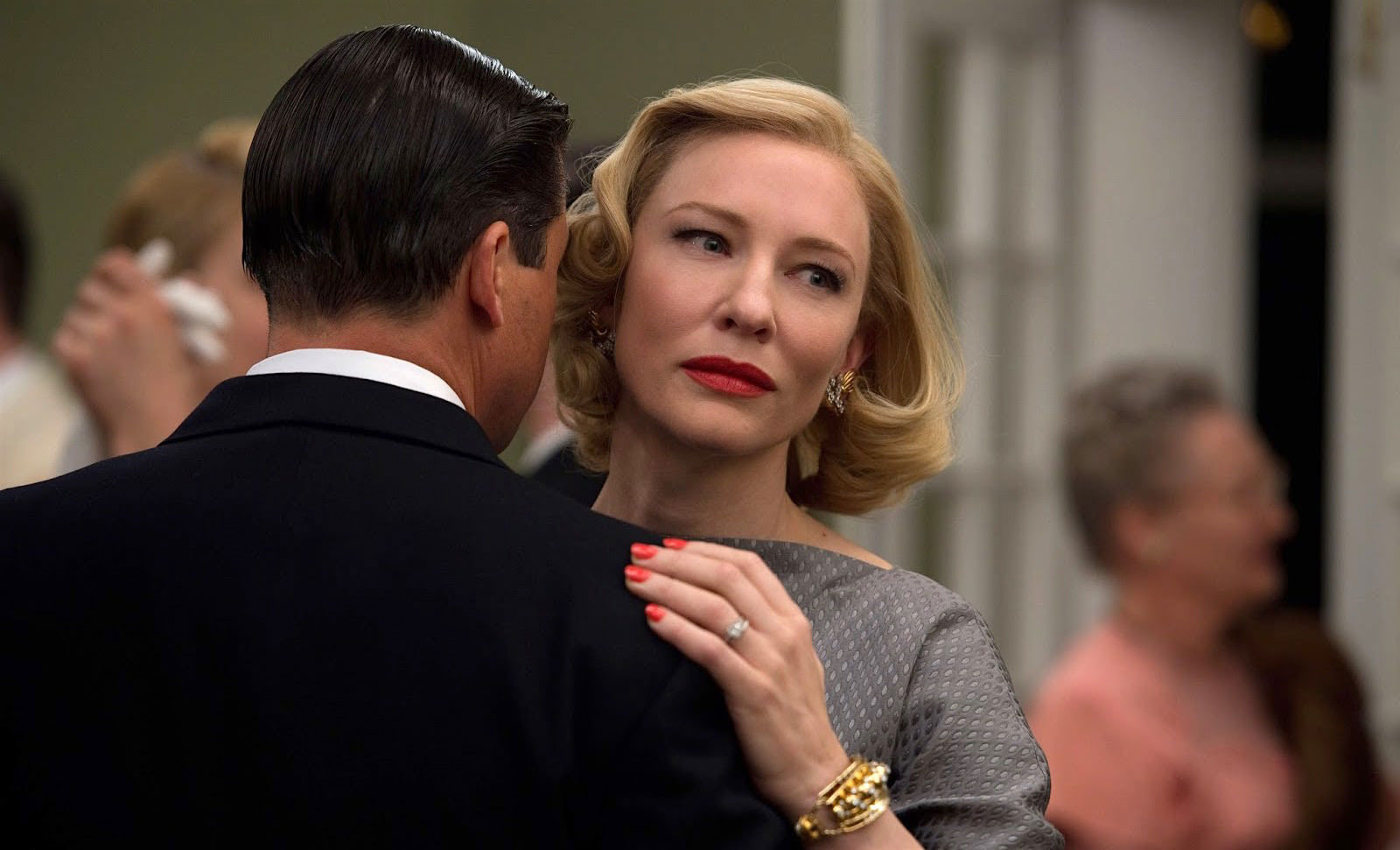 Cate Blanchett as Carol and Kyle Chandler as her husband Harge Aird in Carol, 2015