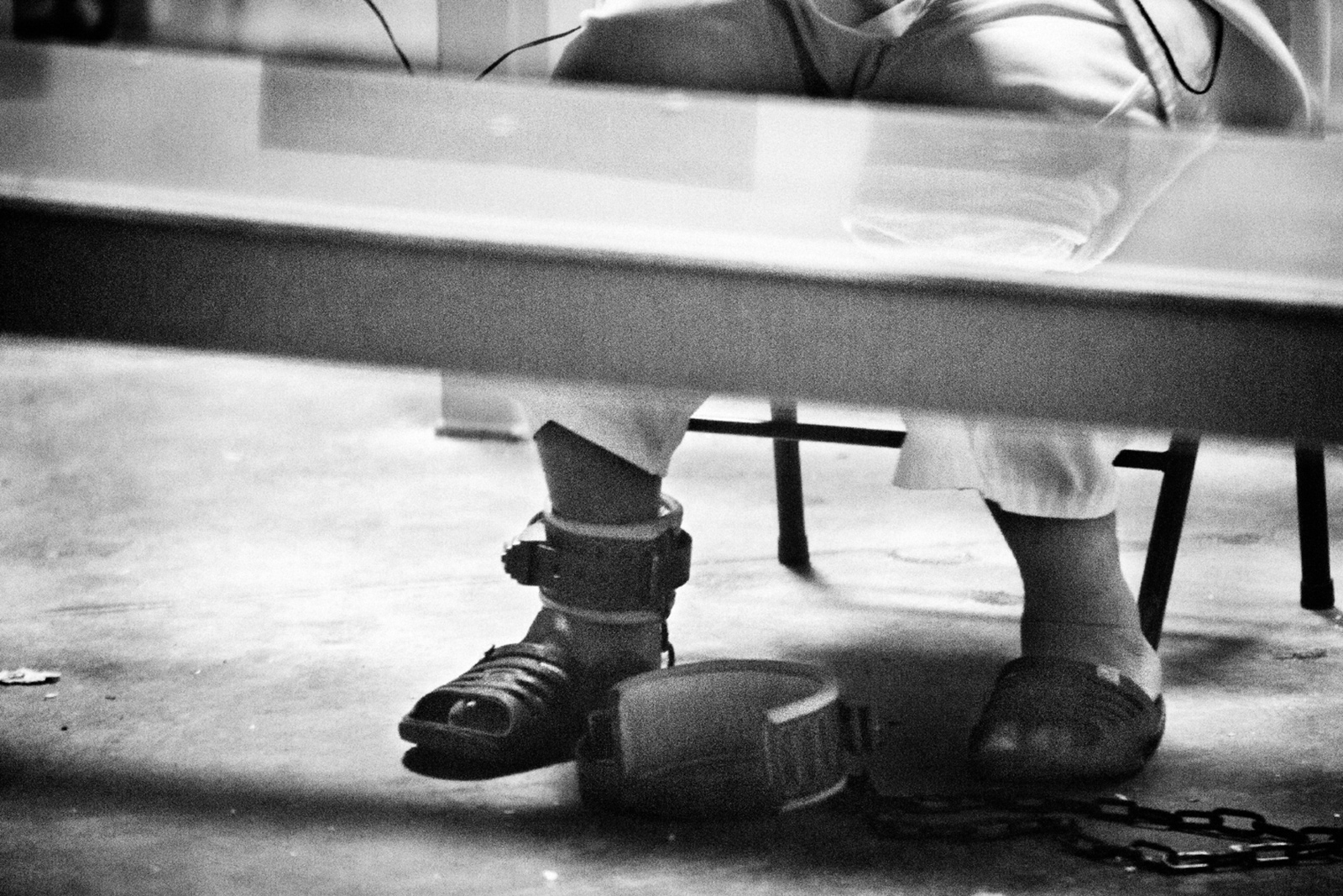 A detainee at Guantánamo, 2012