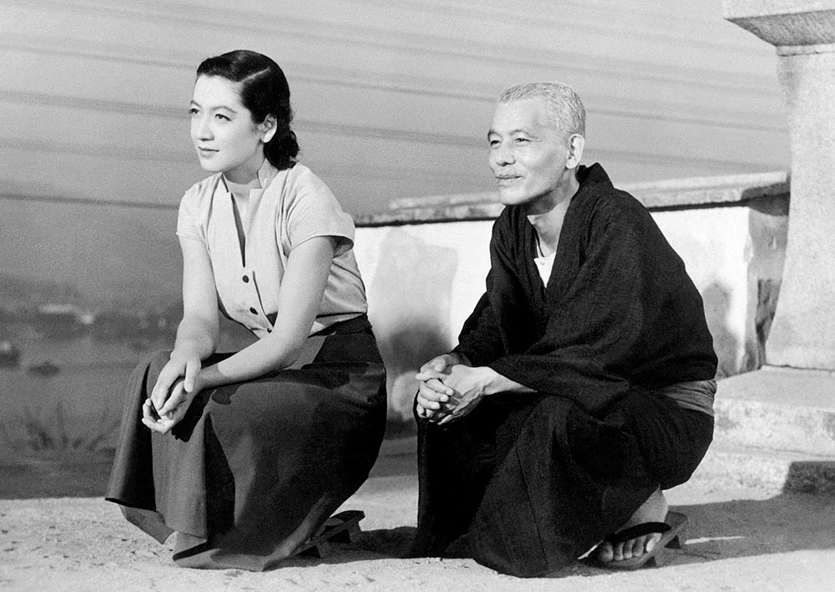 Setsuko Hara as Noriko Hirayama and Chishû Ryû as Shukichi Hirayama in Ozu's Tokyo Story, 1953