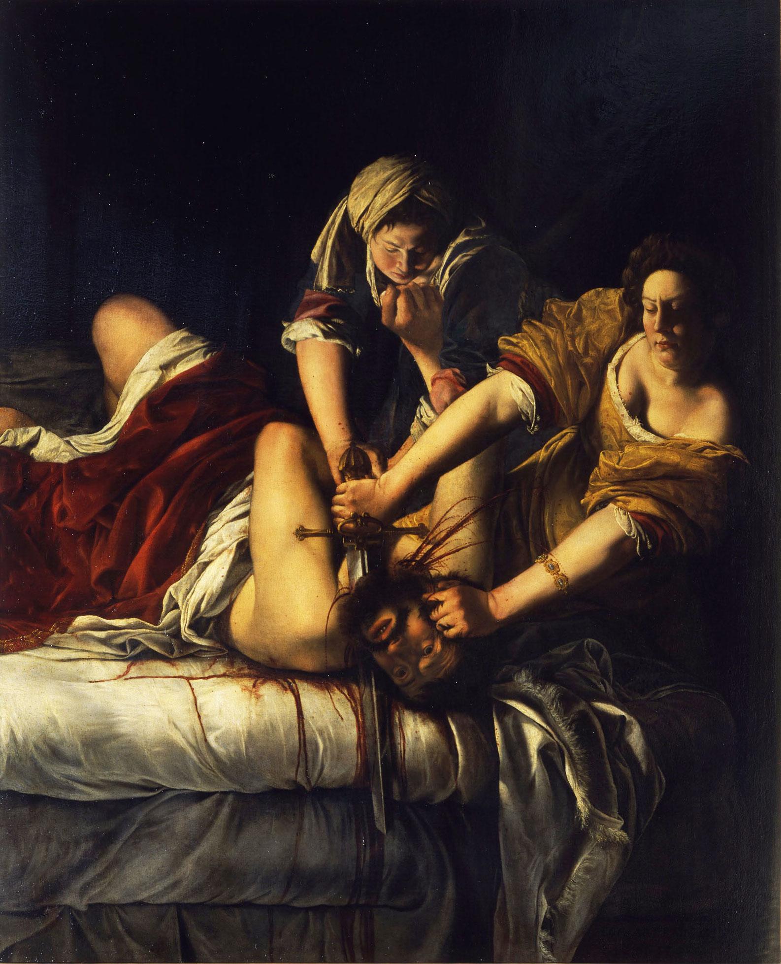Artemisia Gentileschi: Judith Slaying Holofernes, circa 1620
