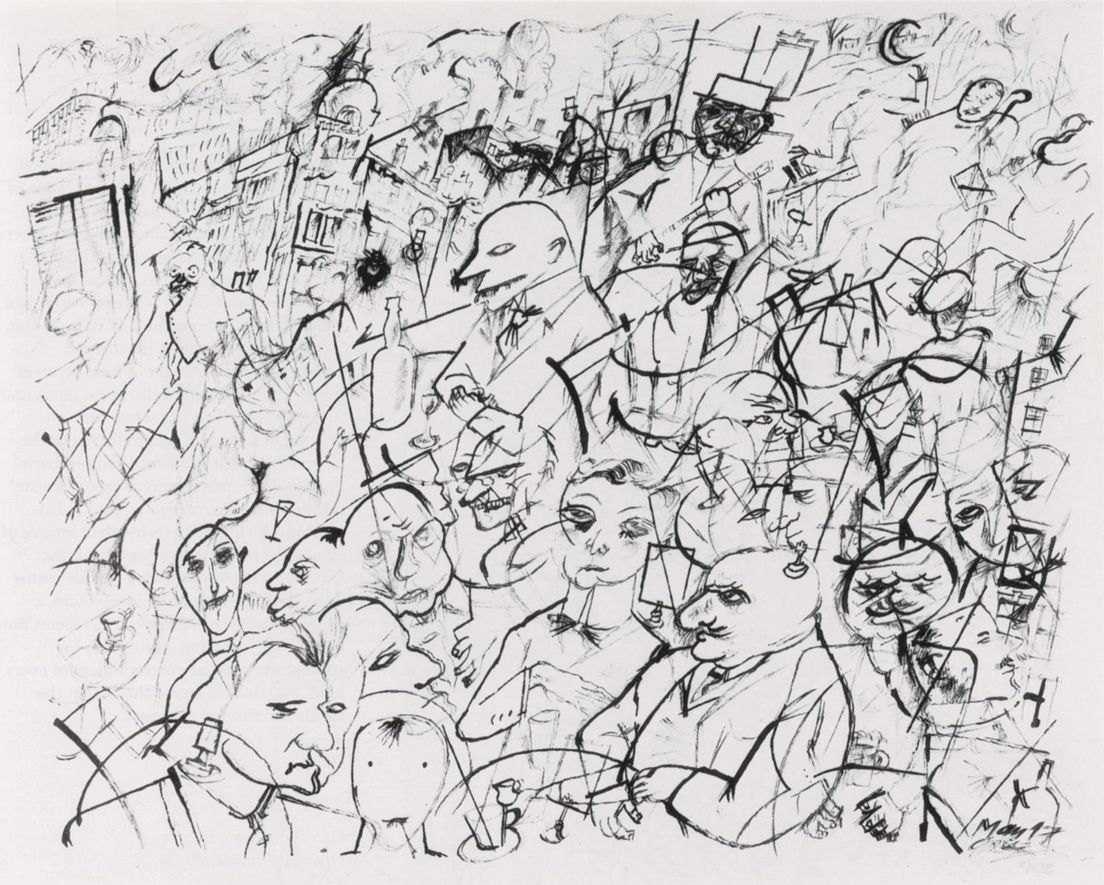 George Grosz: Streetcafé, 1917
