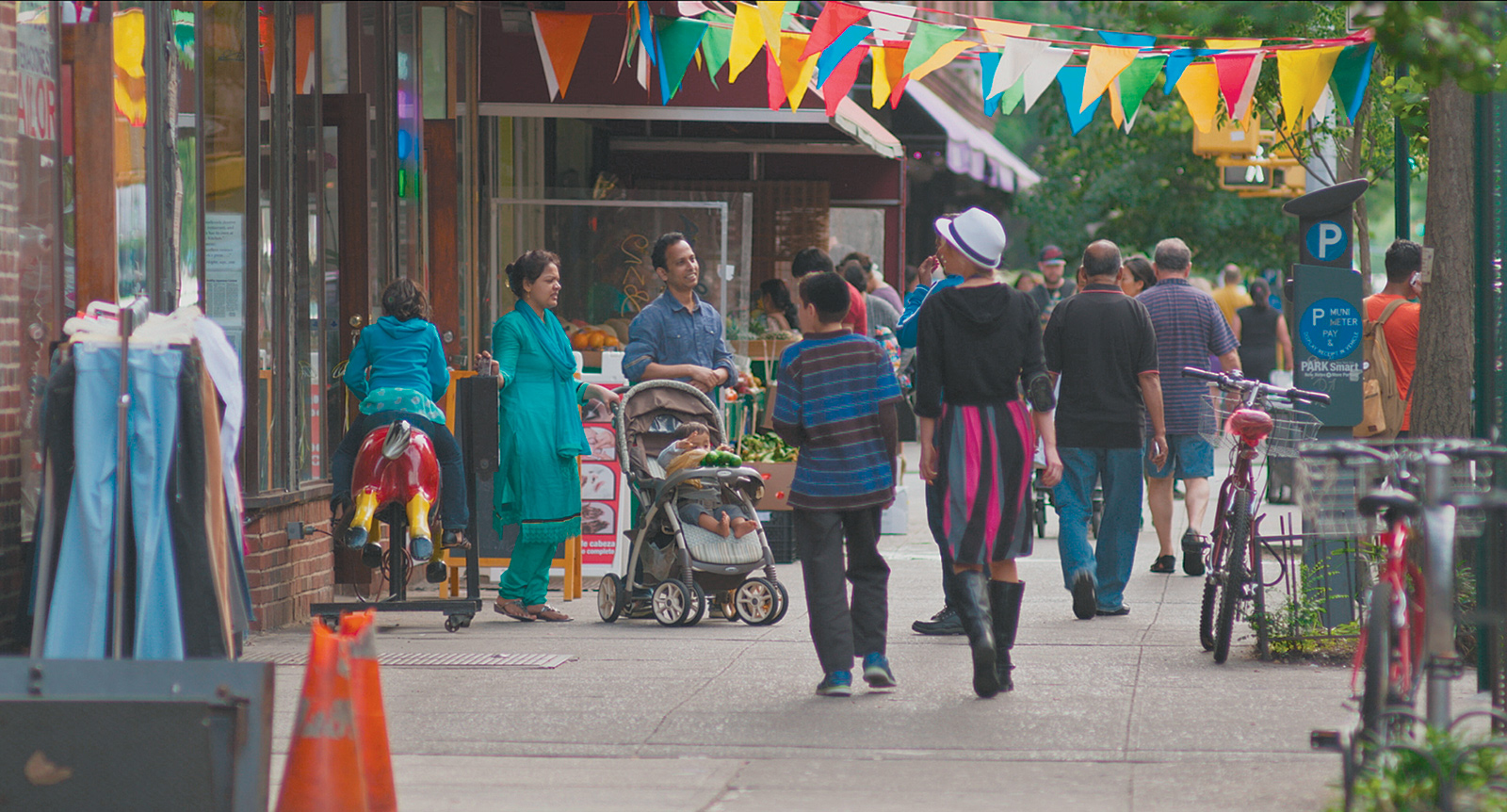 Thirty-seventh Avenue, Jackson Heights, Queens; from Frederick Wiseman's documentary film In Jackson Heights