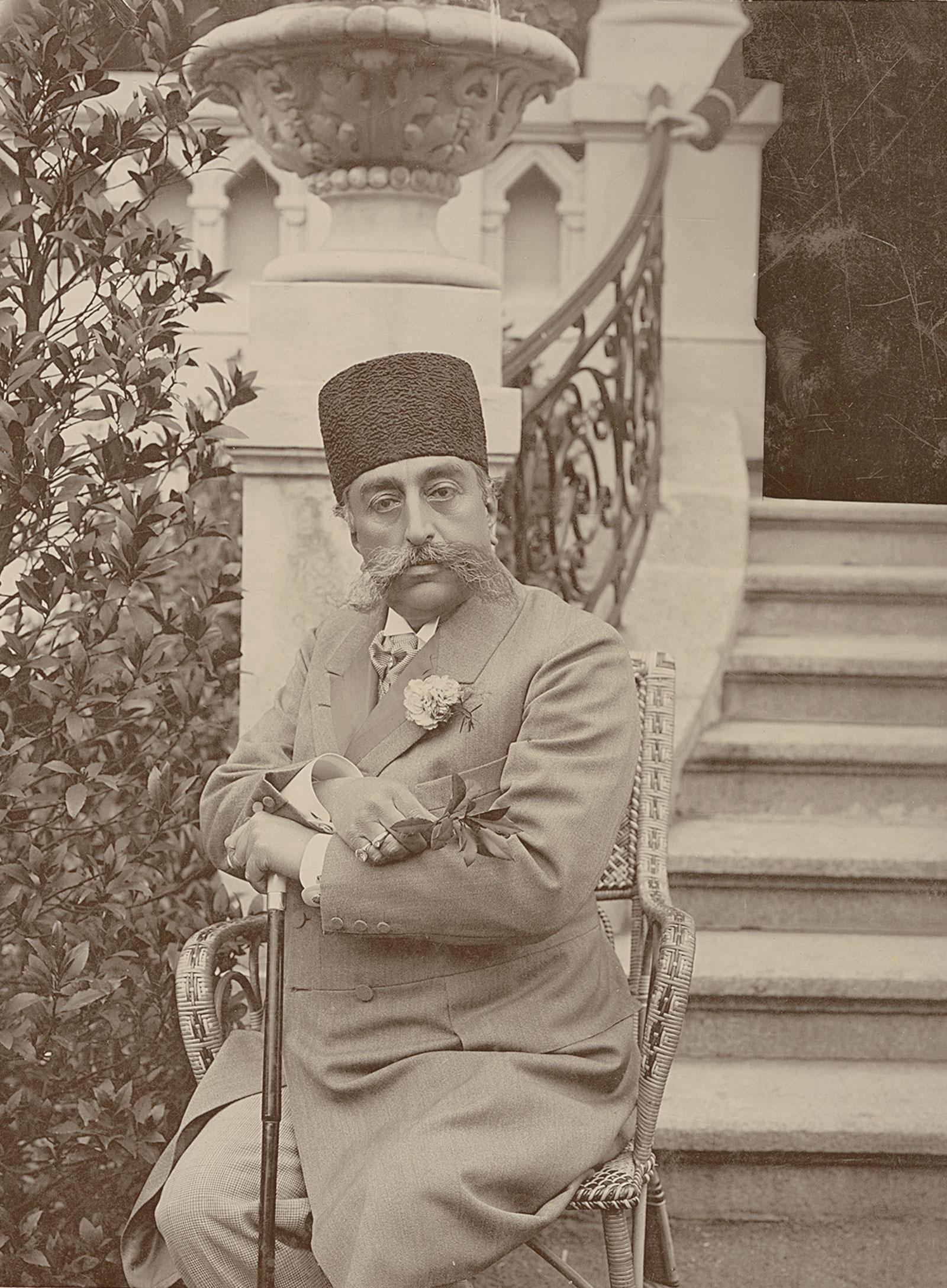 Mozaffar al-Din in Karlsbad, Austria, 1903
