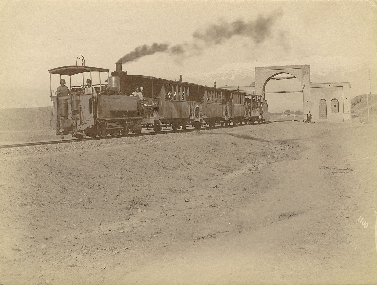 Railway to Shāh Abdol Azīm Shrine, taken by Antoin Sevruguin Albumen, late nineteenth century