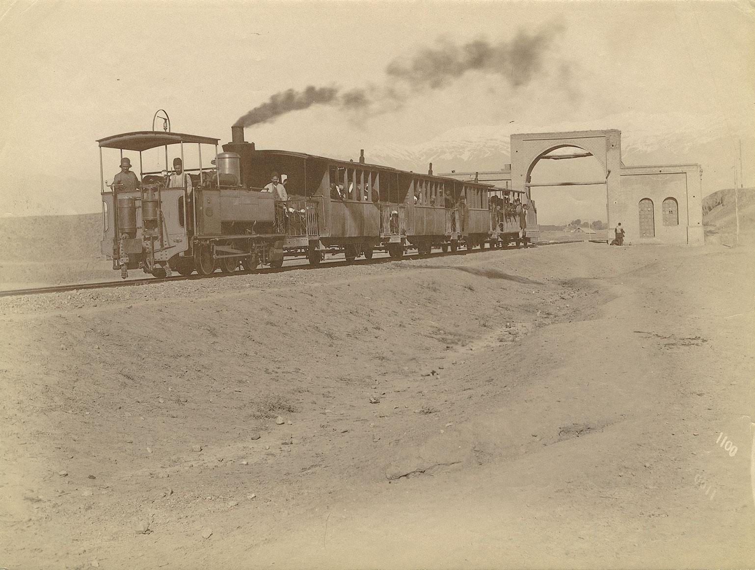 Railway to Shāh Abdol Azīm Shrine, taken by Antoin Sevruguin Albumen, late nineteenth century