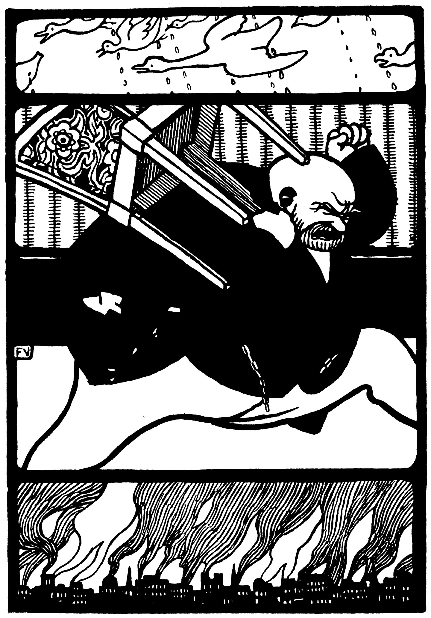 Illustration of Rakkóx by Félix Vallotton from Rakkóx the Billionaire