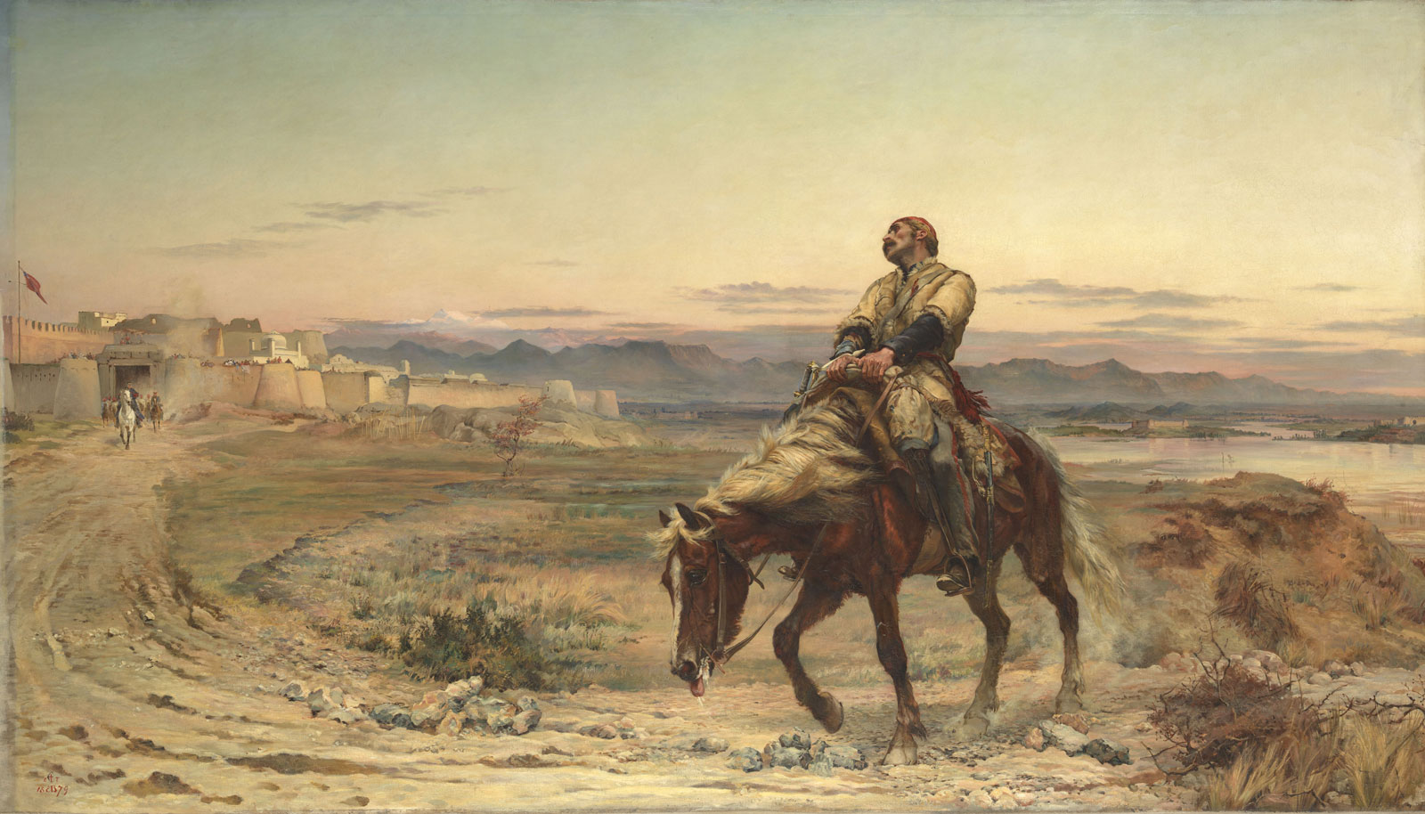 Elizabeth Butler, The Remnants of an Army, 1879