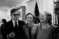 Robert Craft, Vera Zorina, and Vera Stravinsky, New York City, 1980