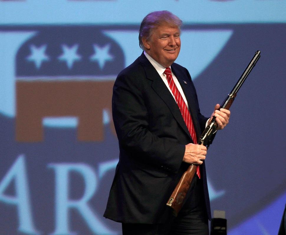 Republican presidential candidate Donald Trump in Hot Springs, Arkansas, July 17, 2015