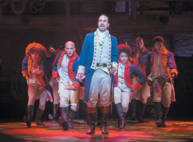Lin-Manuel Miranda as Alexander Hamilton in the Broadway musical Hamilton