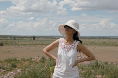 Laila Lalami at Zuni Pueblo, New Mexico, July 2010, during research for her novel The Moor's Account